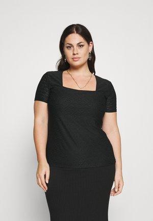 Stickerei Basic T-shirt - Basic T-shirt - black