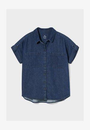 Button-down blouse - denim blue