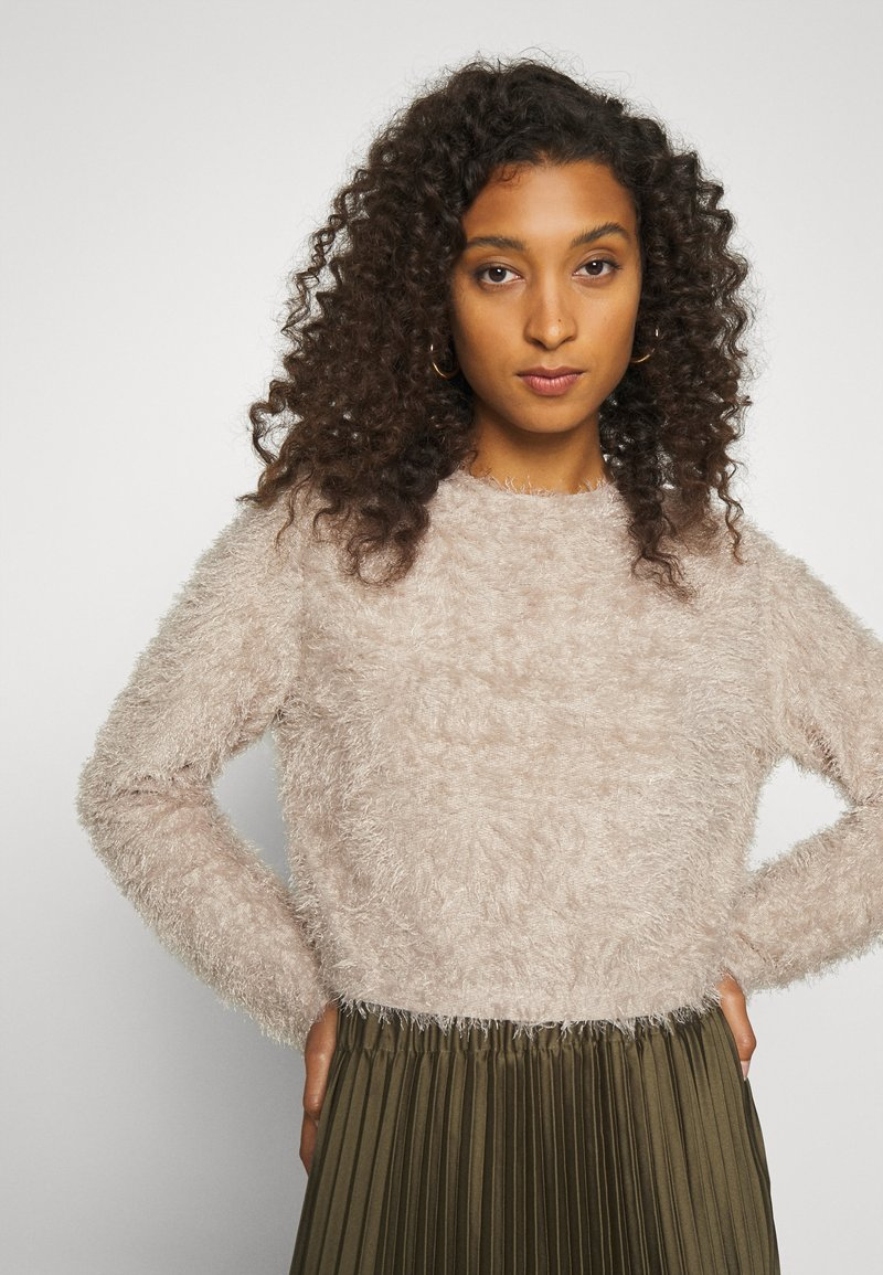 Nly by Nelly SO FLUFFY - Strickpullover - gray/grau 3YPOXc