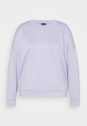 PCRELAX BLOUSE CURVE - Sweatshirt - purple heather