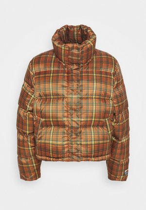 TISLEI  CHECK JACKET - Down jacket - orange