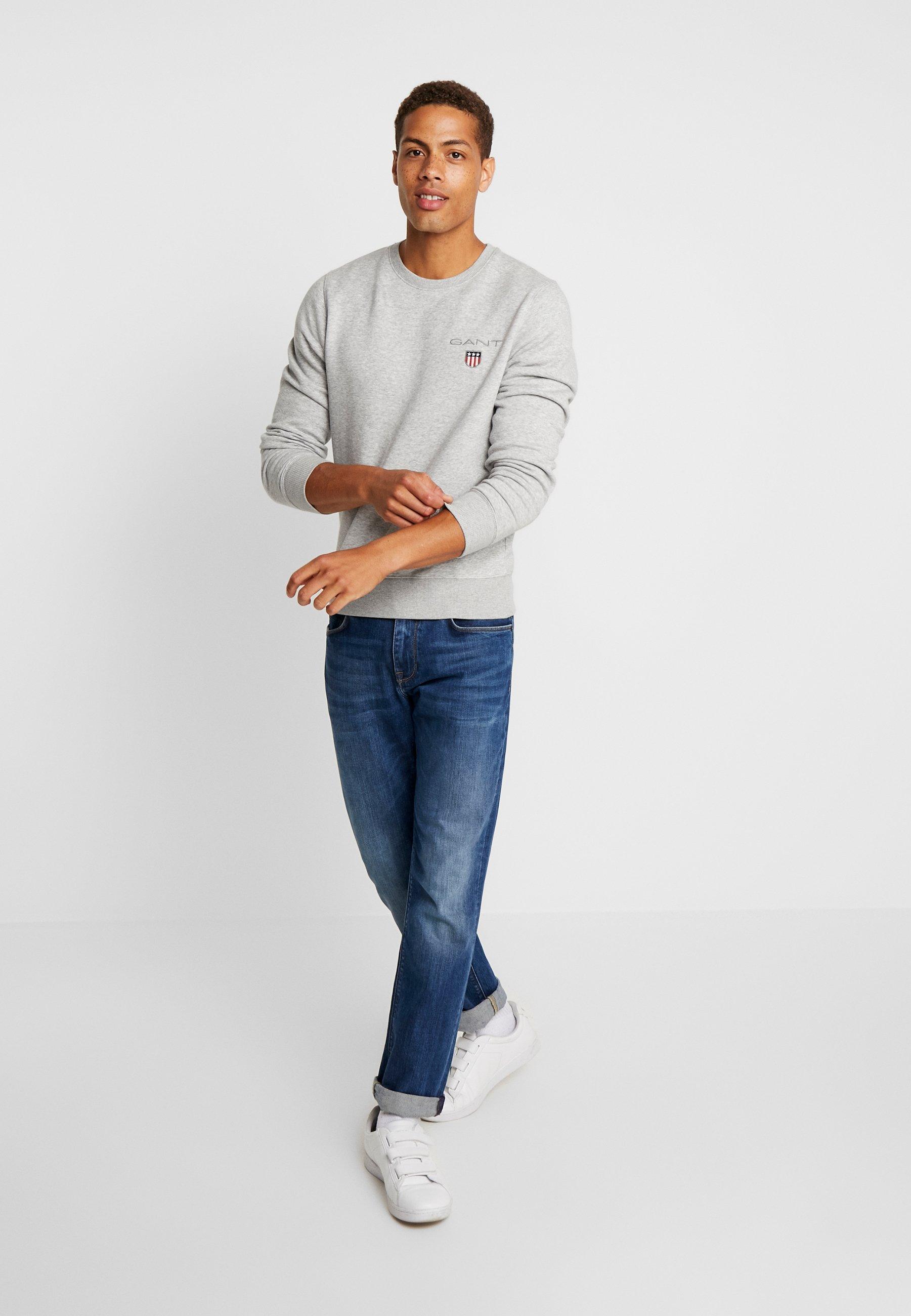 GANT MEDIUM SHIELD CNECK - Sweatshirt - light grey melange