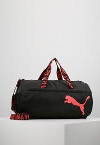 Puma - ESS BARREL BAG - Sports bag - black/pink alert - 0