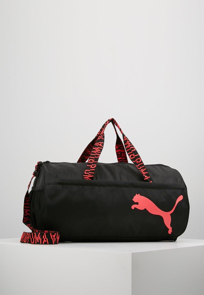 Puma - ESS BARREL BAG - Sports bag - black/pink alert