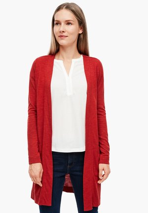 LANGARM - Cardigan - dark red