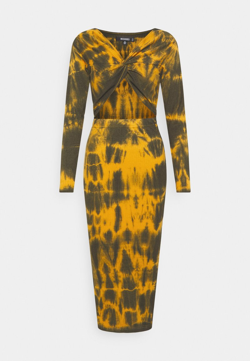 Missguided - CUT OUT TIE DYE  DRESS - Jerseykjole - brown
