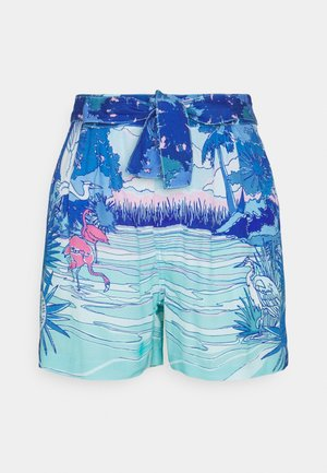 FLUID PRINTED - Shorts - blue