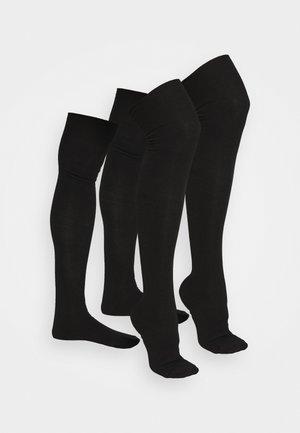 2 PACK - Over-the-knee socks - black