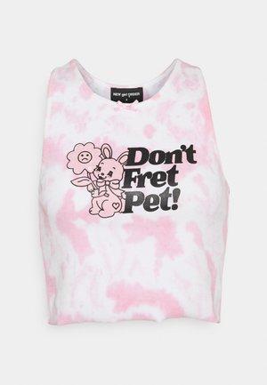 DON'T FRET PET CAMI TIE DYE - Top - pink