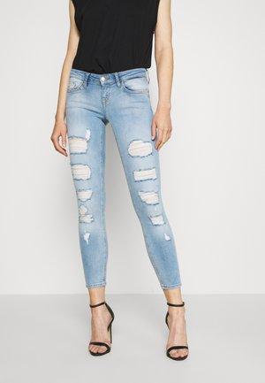 ONLCORAL DESTROY  - Skinny džíny - light-blue denim
