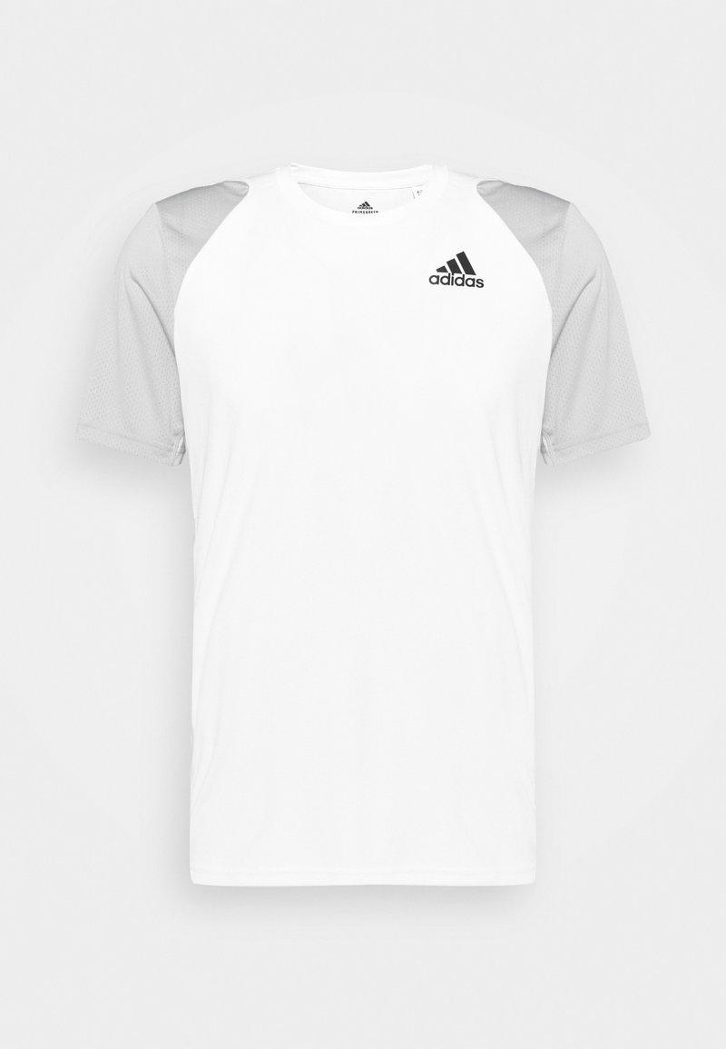 adidas Performance - CLUB TEE - Print T-shirt - white/gretwo/black