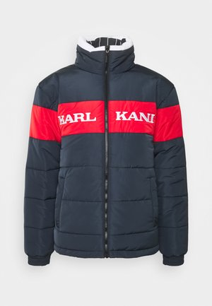 UNISEX RETRO BLOCK REVERSIBLE PUFFER  - Winter jacket - navy
