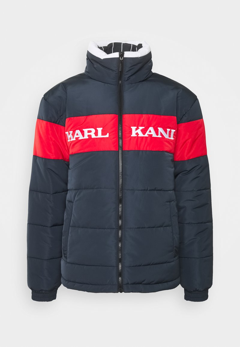 Karl Kani - UNISEX RETRO BLOCK REVERSIBLE PUFFER  - Winter jacket - navy