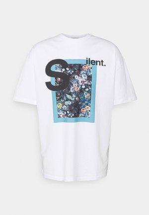 SILENT FLOWERS UNISEX - Print T-shirt - white