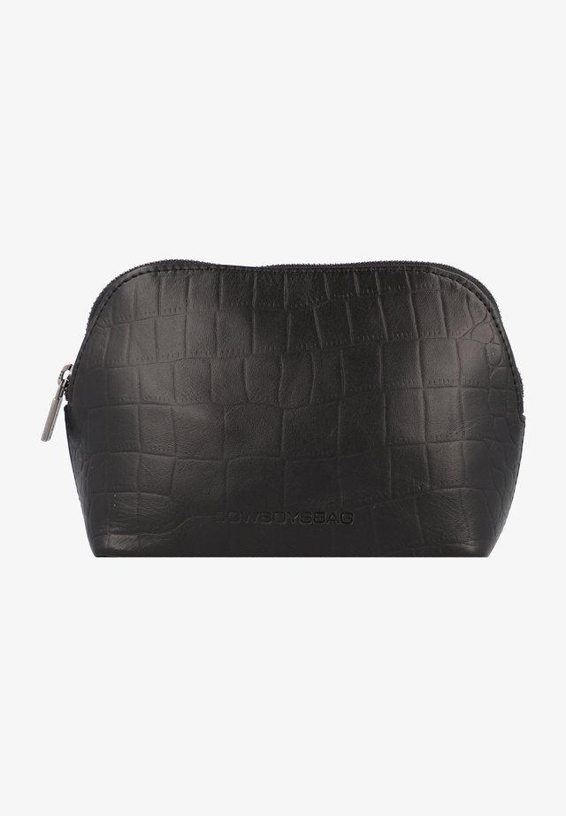 Wash bag - croco black