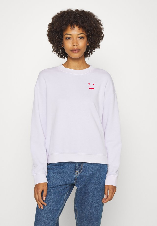 LOOSE SHAPE CREW NECK LONG SLEEVE PLACED PRINT - Sweatshirt - syringa lilac