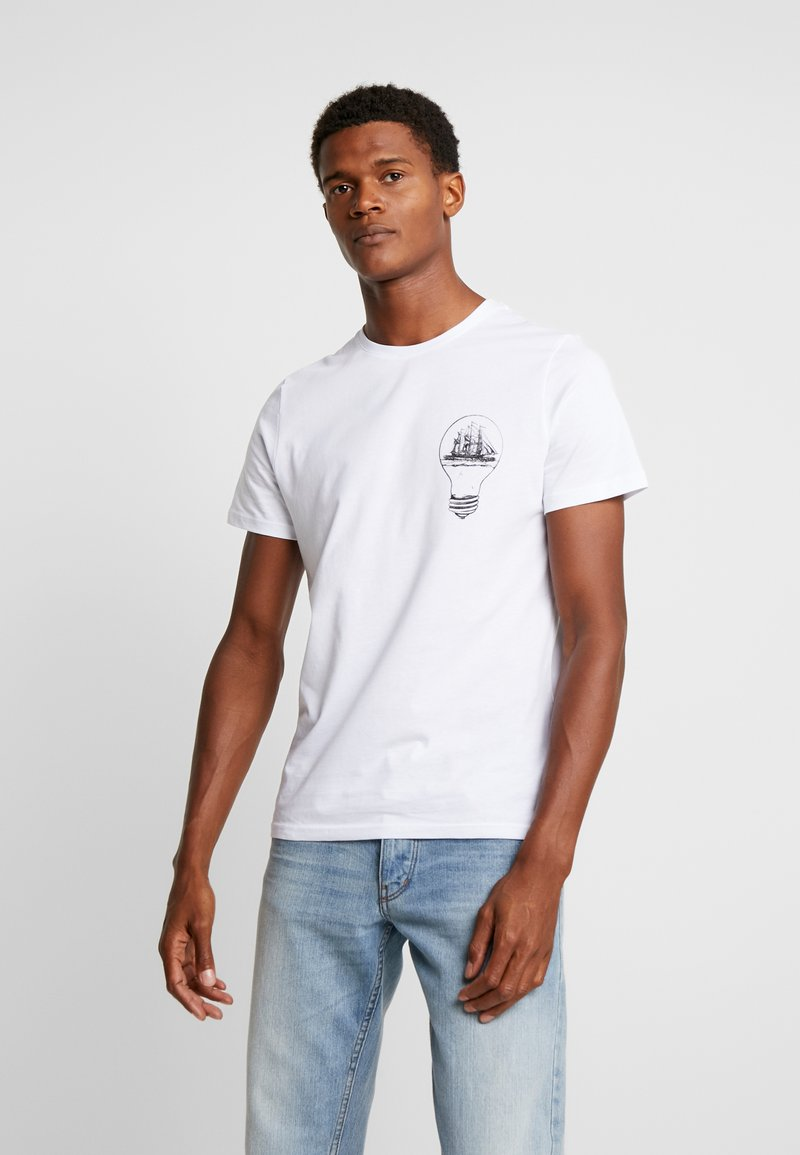 Pier One - T-shirt con stampa - white