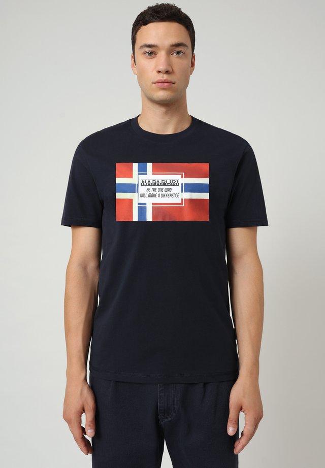SERA - T-shirt z nadrukiem - blu marine