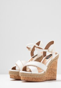 River Island Wide Fit - High heeled sandals - white - 4