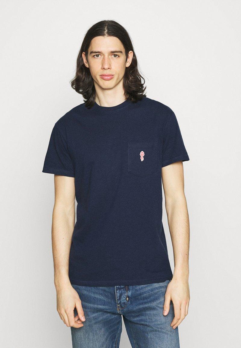 REVOLUTION - LOOSE FIT POCKET - T-shirt basic - navy