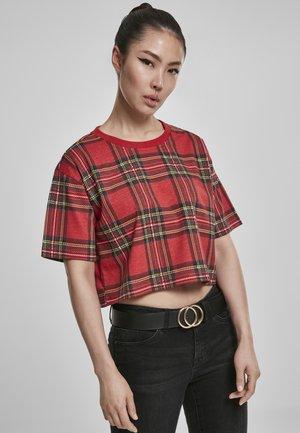 T-shirt med print - red/black