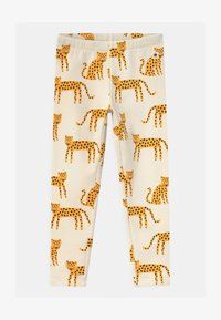 Lindex - MINI LEO ANIMALS UNISEX - Legging - light beige - 0
