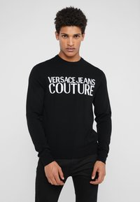Versace Jeans Couture - Stickad tröja - black - 0