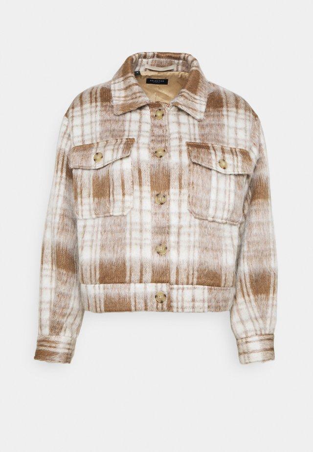 SLFGRY JACKET EX - Summer jacket - snow white/brown