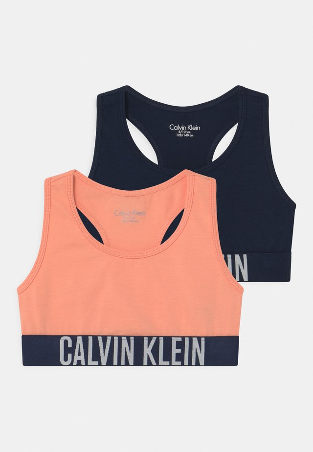 2 PACK - Bustier - apricot pink/navy iris