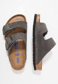 Birkenstock - ARIZONA SOFT FOOTBED - Mules - iron - 1