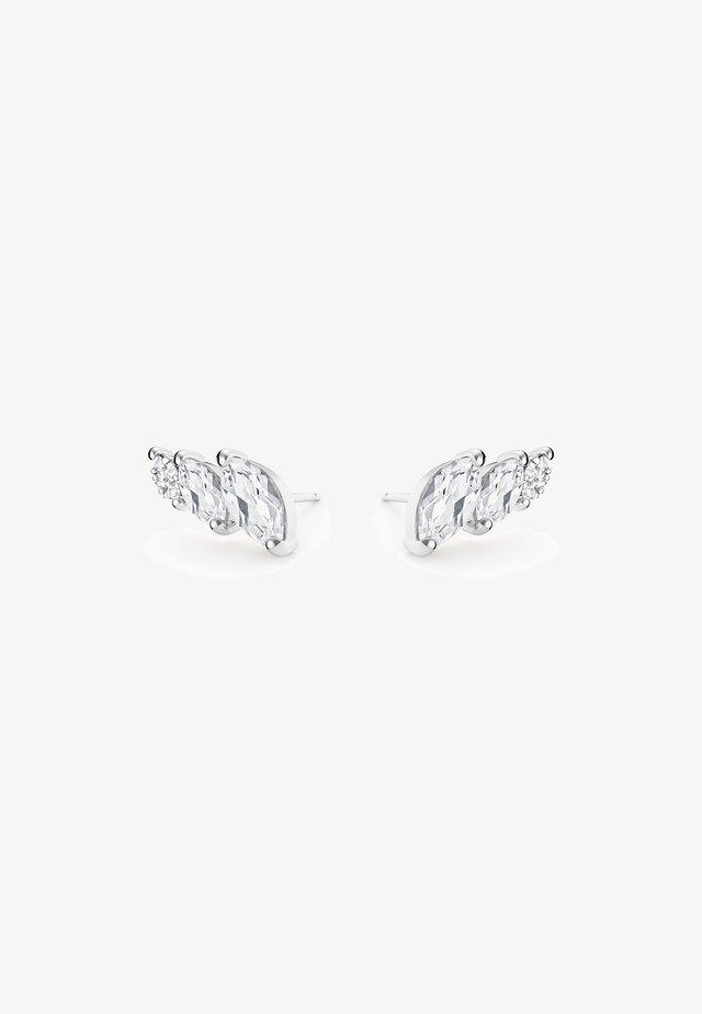 WHITE TOPAZ DIAMOND EARRINGS - Boucles d'oreilles - white rhodium silver