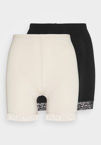 ONLY - ONLLIVE LOVE LIFE  2PACK - Shorts - pumice stone/black - 0