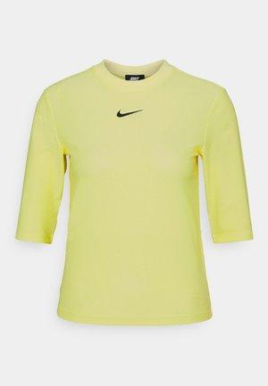 Print T-shirt - light zitron/black