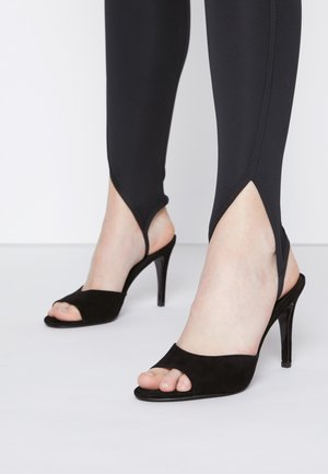 ERIN - Heeled mules - black