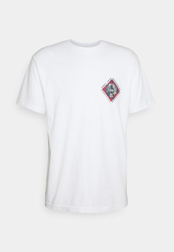 OBEY DISSENT & CHAOS TIGER - Printtipaita - white