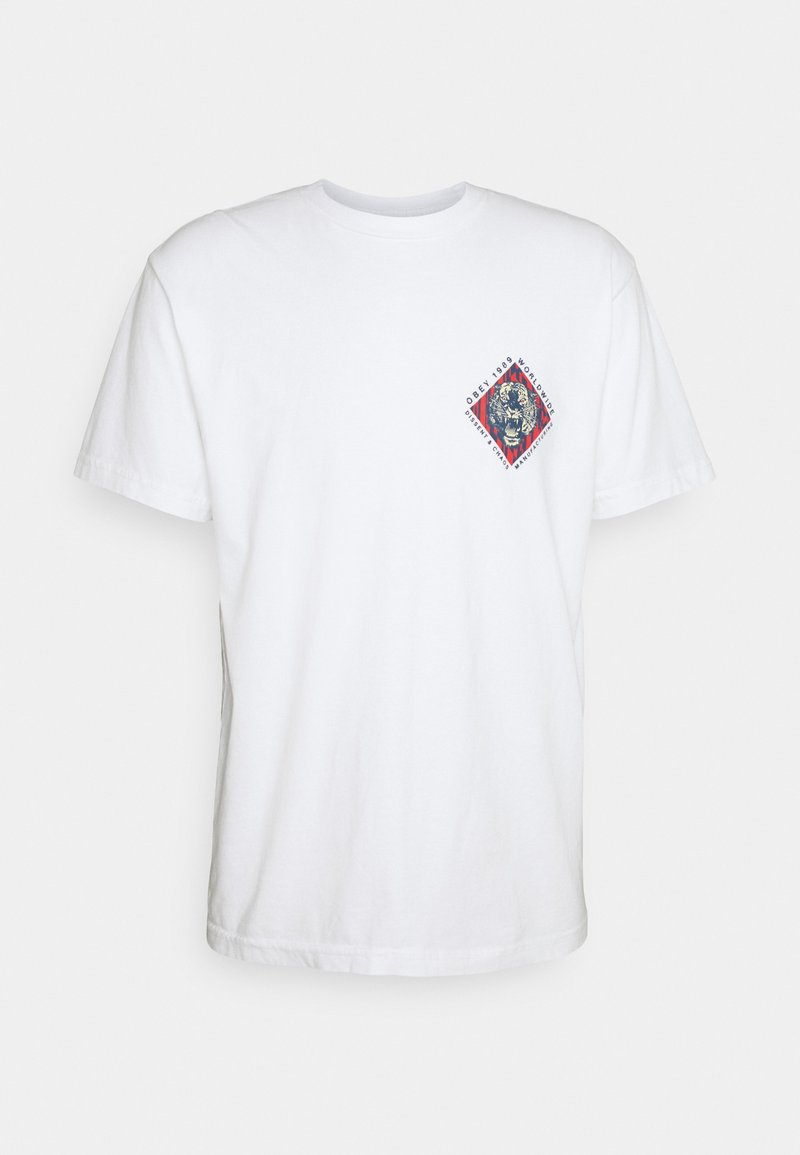 Obey Clothing - OBEY DISSENT & CHAOS TIGER - Printtipaita - white