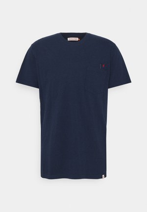 REGULAR - Print T-shirt - navy melange