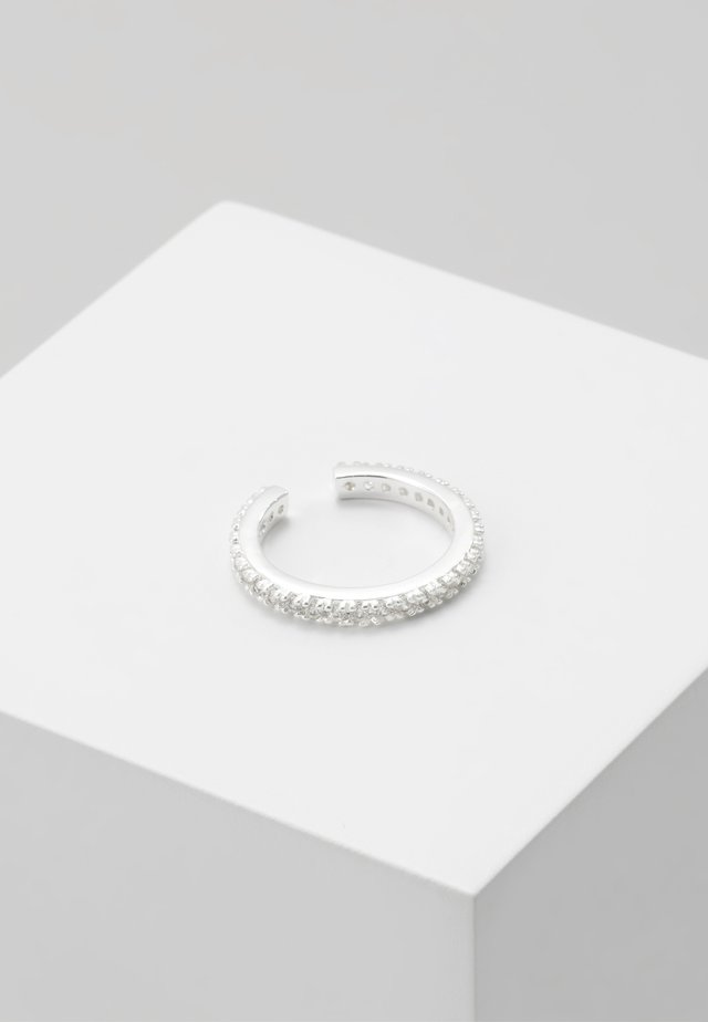 PAVE SINGLE EAR CUFF - Örhänge - silver-coloured