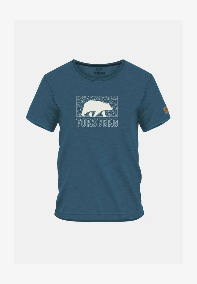 MIT BRUSTLOGO  - Print T-shirt - blau