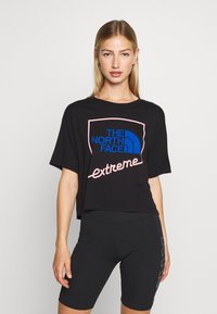 The North Face - EXTREME CROP TEE - Print T-shirt - black - 0
