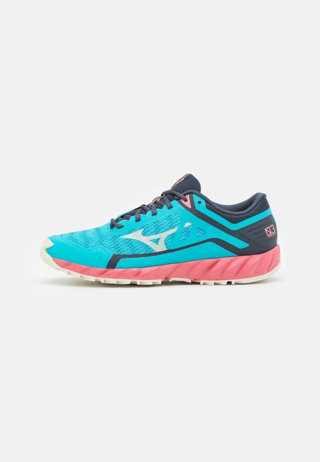 WAVE IBUKI 3 - Chaussures de running - scuba blue/snow white/tea rose