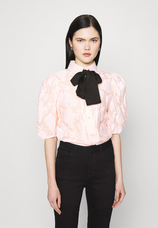 APERITIF FLORAL PUFF SLEEVE BLOUSE - Button-down blouse - pink