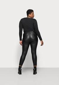Simply Be - HIGH WAIST SHAPER - Slim fit jeans - black - 2