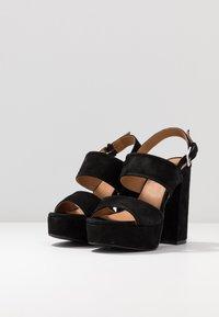 Even&Odd - LEATHER - Højhælede sandaletter / Højhælede sandaler - black - 4