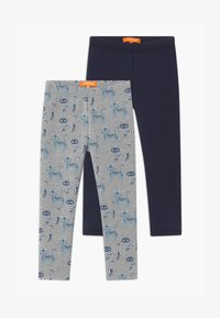 Staccato - THERMO KID 2 PACK - Leggings - Trousers - grey/dark blue - 0