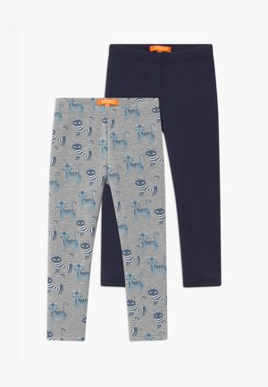 THERMO KID 2 PACK - Leggings - Trousers - grey/dark blue