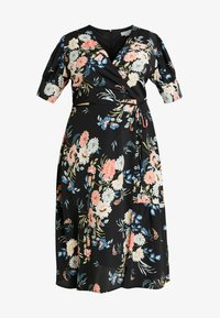 WRAP DRESS IN ORIENTAL FLORAL - Denní šaty - multi/black