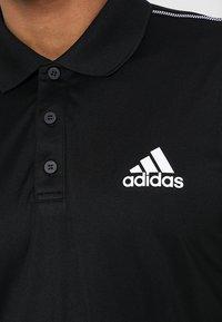 adidas Performance - CLUB SPORTS SHORT SLEEVE  - Funktionstrøjer - black/white - 6