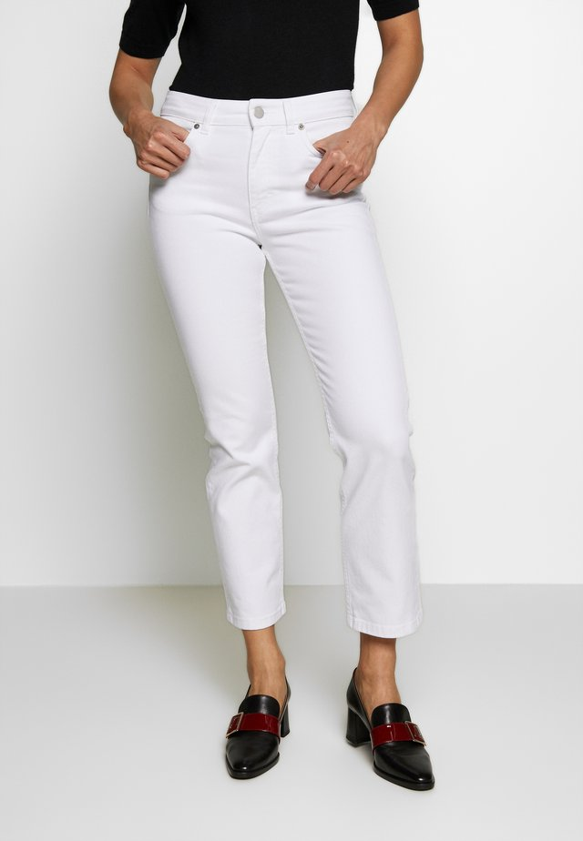 STELLA CROPPED - Jeansy Skinny Fit - white