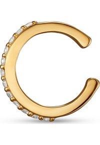 QOOQI - DAMEN-EINZELNER OHRSCHMUCK EAR CUFF 925ER SILBER 12 ZIRKON - Earrings - gelbgold - 1